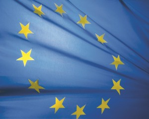 EU Flag wind