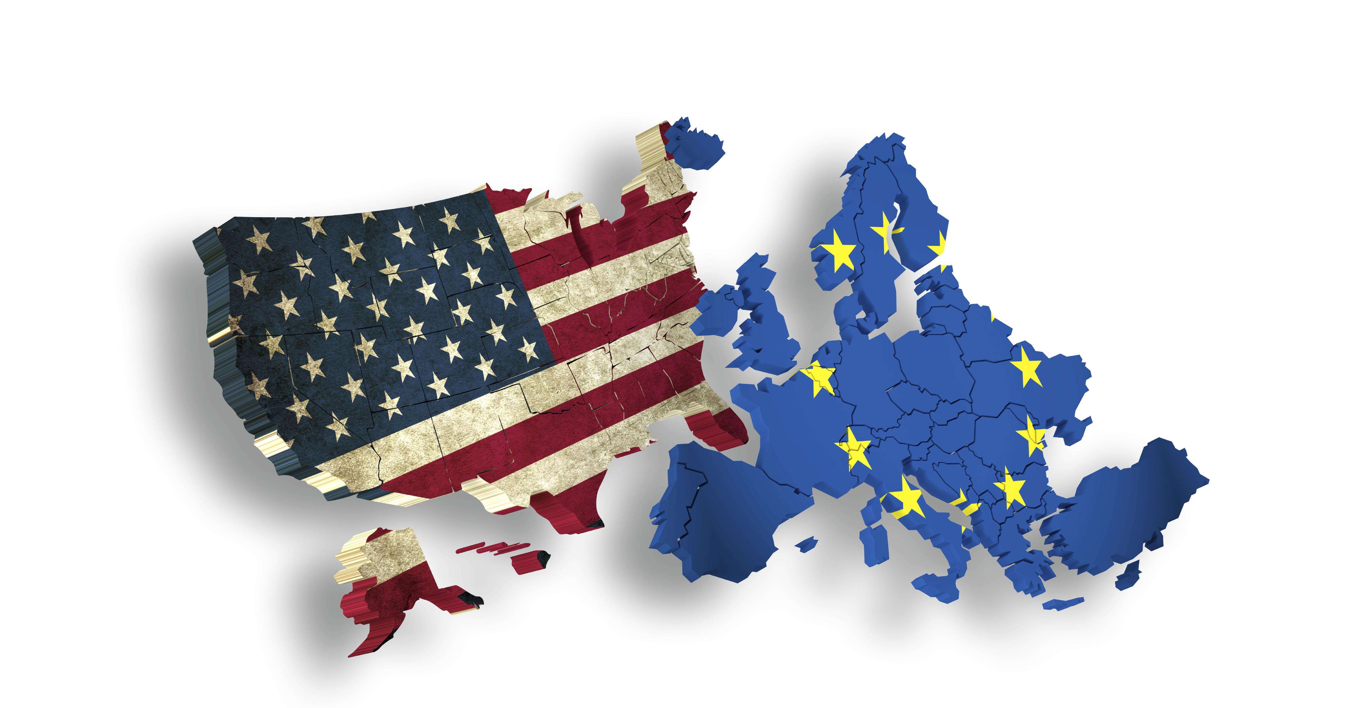 USA and EUROPE / EU - Symbol for TTIP