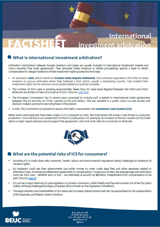 BEUC-X-2016-09-international-investment-arbitration