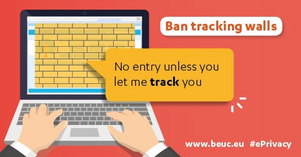 """""""No entry unless you let me track you.""""- Ban tracking walls"""