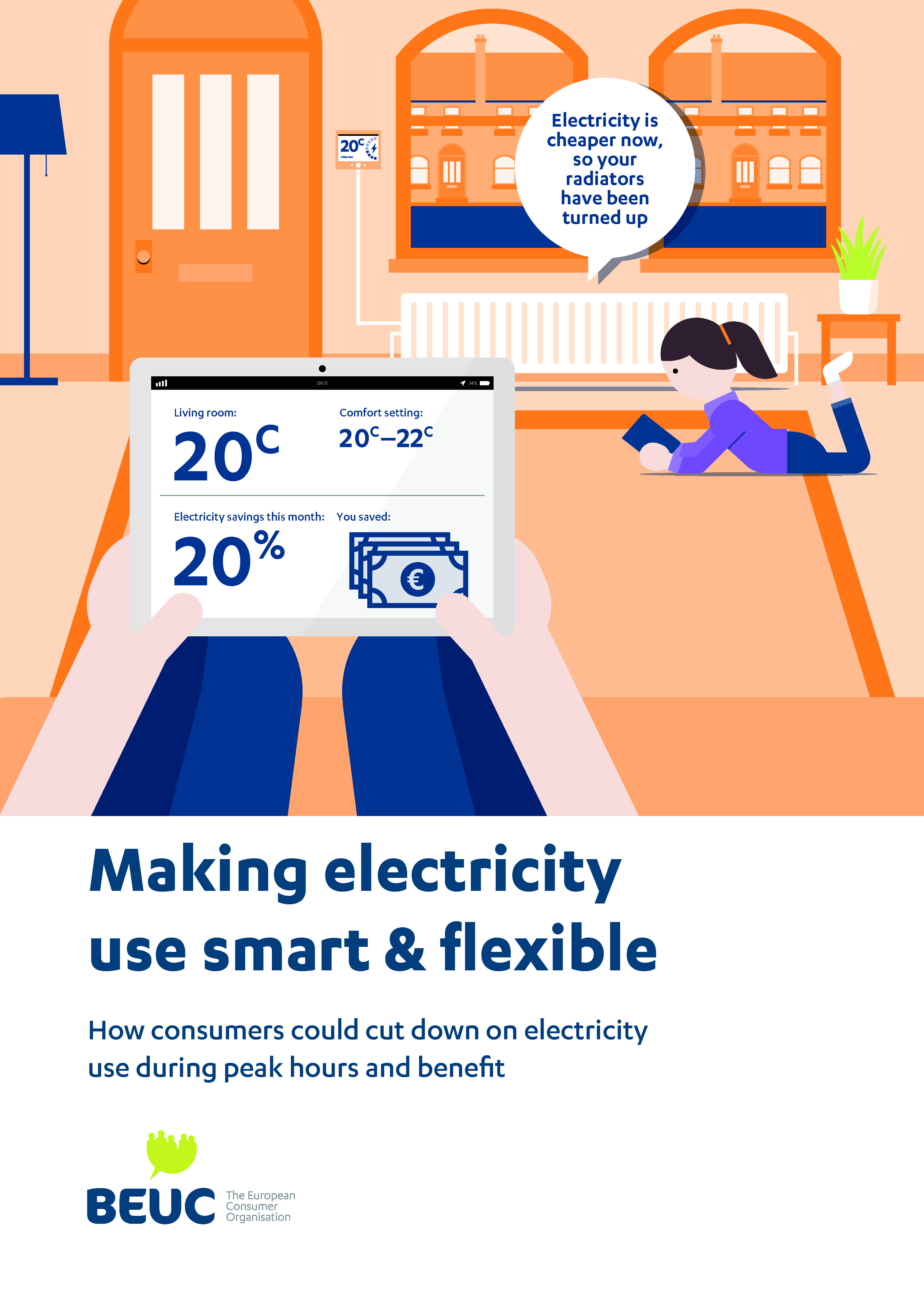 BEUC brochure on making electricty use smart & flexible, incl. for cars.