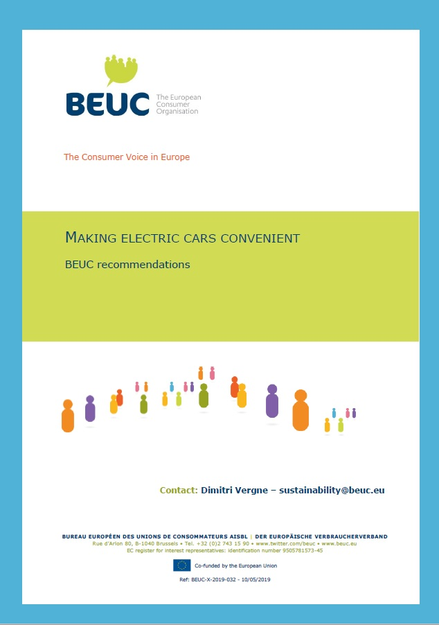 "Picture of the cover of a PDF document titled ""Making electric cars convenient"""
