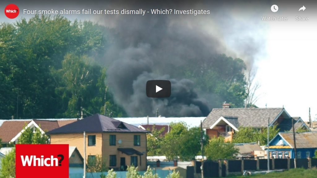 Picture of a YouTube film by Which? UK explaining their smoke alarm research