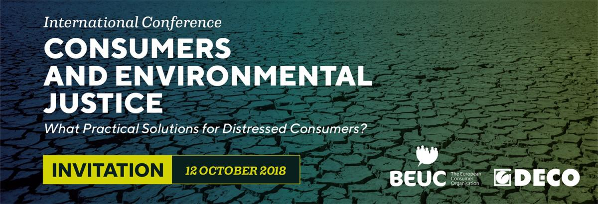 Consumers and environmental justice - What practical solutions?